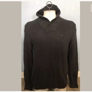 Tommy Hilfiger Mens Collar Knit Sweater Pullover